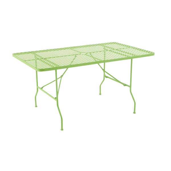 Attractively Styled Metal Folding Outdoor Table 15425551