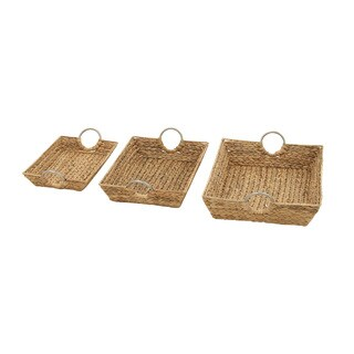 Astounding Sea Grass Baskets (Set of 3)