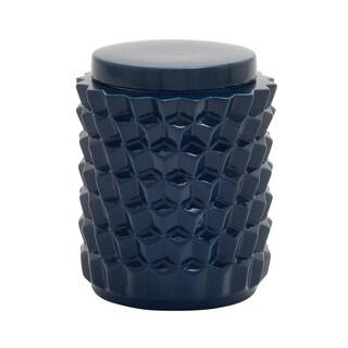 Utility Rich Ceramic Blue Jar