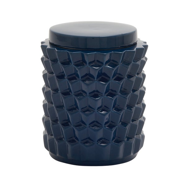 Utility Rich Ceramic Blue Jar