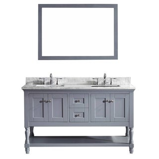 Julianna 60-inch Double Bathroom Vanity Cabinet Set in Grey