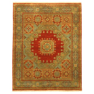 EORC 9023 Rust Hand-knotted Wool Mamouk Rug (8'1 x 10'3)