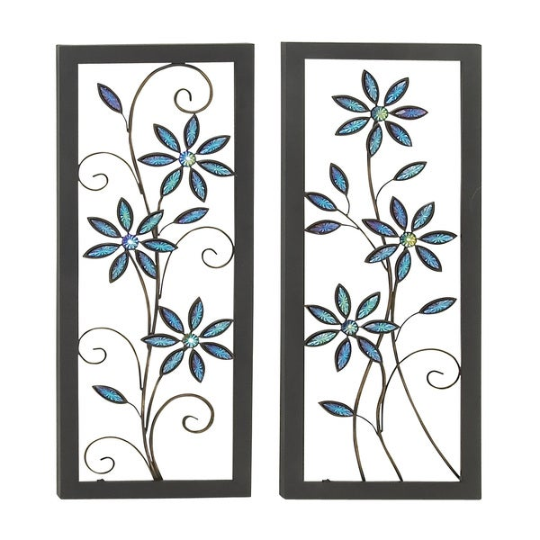 Contemporary Styled Metal LED Wall Plaque  (Set of 2) 15425637