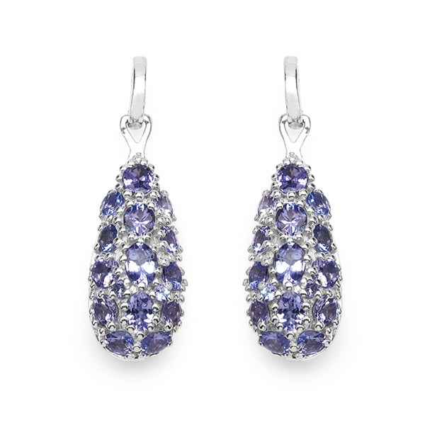 Malaika Sterling Silver Tanzanite Teardrop Earrings