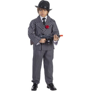 Dress Up America Boys' Striped Gangster Costume
