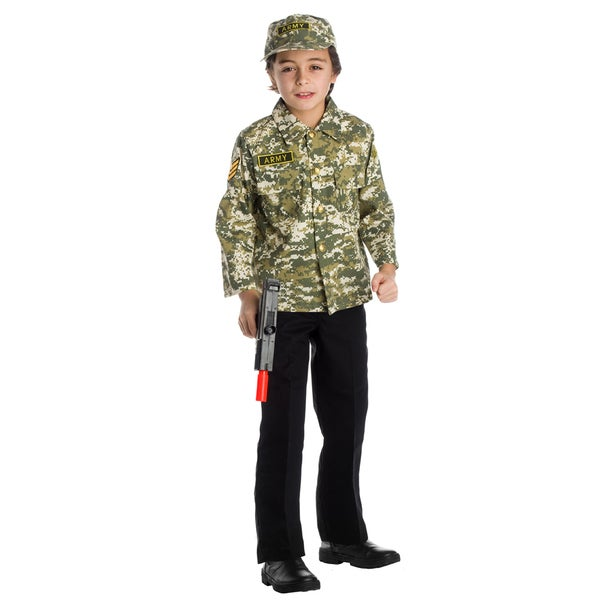 Dress Up America Boys' Army Role Play Set Costume