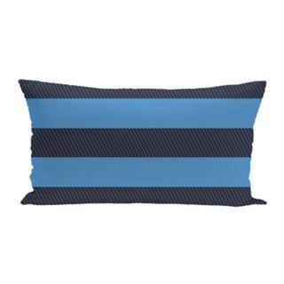 14 x 20-inch 500 Coastal Calm Horizontal Stripe Print Outdoor Decorative Pillow