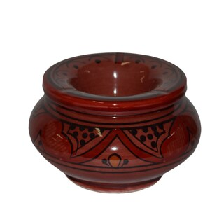 Handmade Safi Red Ashtray (Morocco)