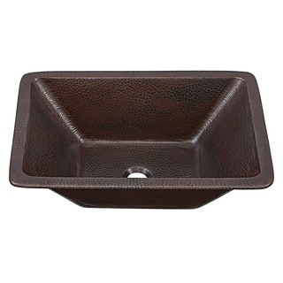 SINKOLOGY Hawking 20 inch Dual Mount Copper Sink Handmade Pure Solid Copper in Aged Copper