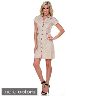 Stanzino Women's Collared Trench Dress