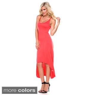 Stanzino Women's Asymmetric Hem Cut-out Back Tank Dress