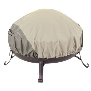 Classic Accessories Belltown Grey Round Fire Pit Cover