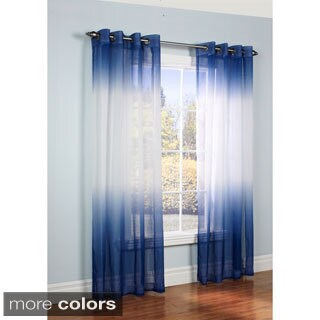 Ombre Semi Sheer Two-tone Curtain Panel