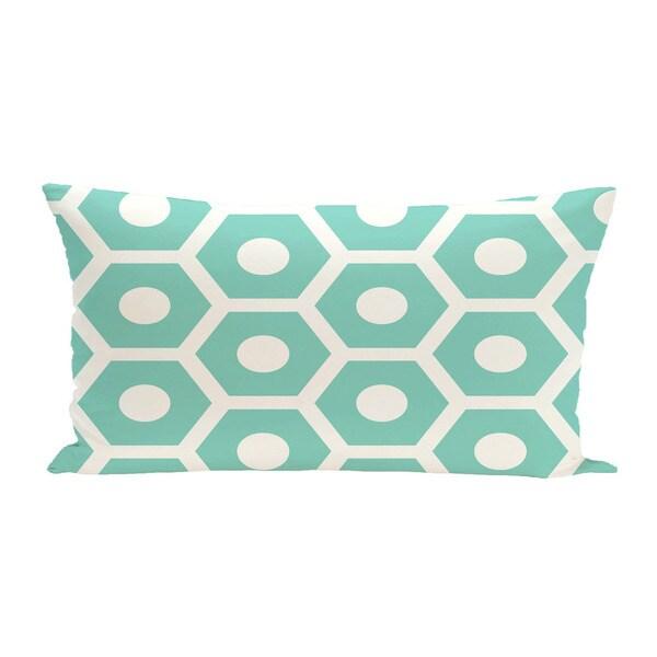 14 x 20-inch Hexagon Geometric Print Outdoor Decorative Pillow