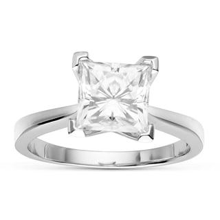 Charles & Colvard 14k Gold 2.50 TGW Square Forever Brilliant Moissanite Solitaire Ring