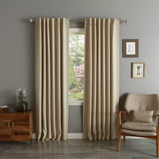 Aurora Home Solid Insulated Thermal Blackout Curtains Panel Pair
