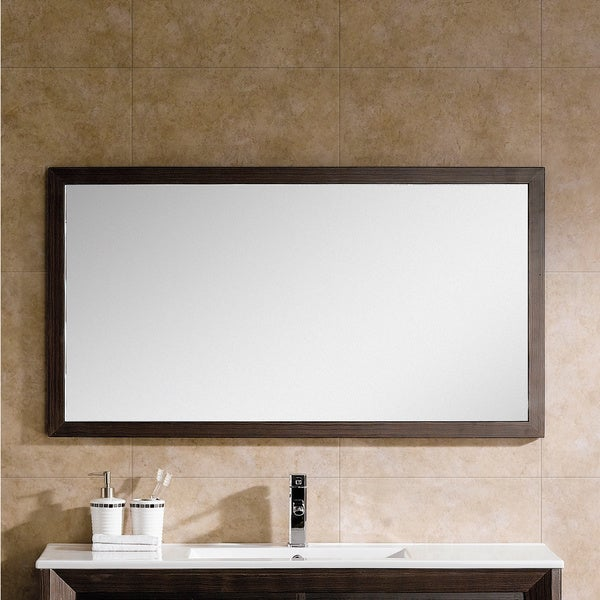 Fine fixtures imperial ii 48 inch hanging mirror for 48 inch mirrored bathroom vanity