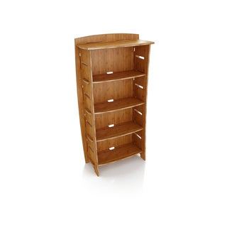 Legare Furniture Adjustable Amber Bamboo Four-shelf Bookcase