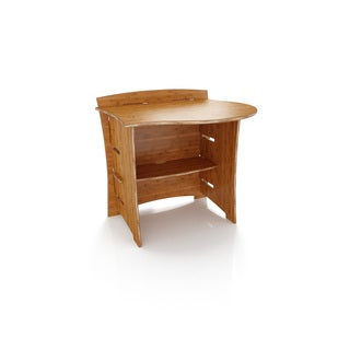 Legare Furniture 31-inch Peninsula Desk Attachment Amber Bamboo