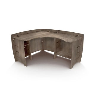 "Legare Furniture Grey Driftwood L-Shape Corner Desk, 60"" x 47"""