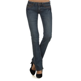 Tabeez Women's Slim Fit Straight Leg Denim Jeans