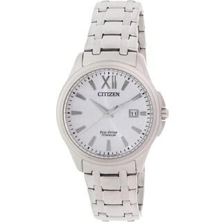 Citizen Men's Eco-Drive BM7240-50A Silver Titanium Quartz Watch