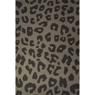 Casual Animal Pattern Cobblestone/Bungee cord Wool 5x8 Area Rug
