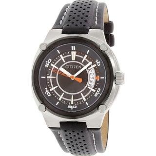Citizen Men's BK2535-13E Black Leather Quartz Watch