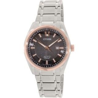 Citizen Men's Eco Drive AW1245-53E Silver Titanium Eco-Drive Watch