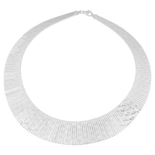 Argento Italia Sterling Silver Tapered Cleopatra Necklace (17 inches)