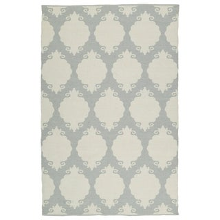 Indoor/Outdoor Laguna Grey Medallions Flat-Weave Rug (8'0 x 10'0)