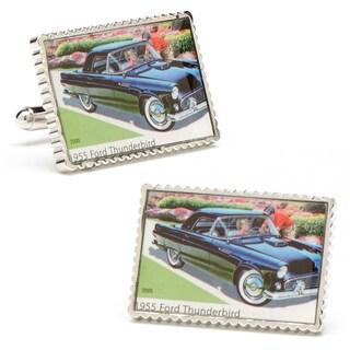 Silvertone 1955 Ford Thunderbird Stamp Cufflinks