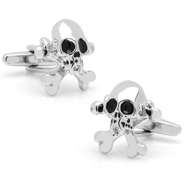 Silverplated Silver Skull & Crossbones Cufflinks