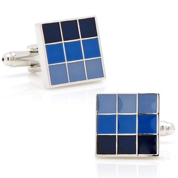 Silverplated Blue Ombre Cufflinks