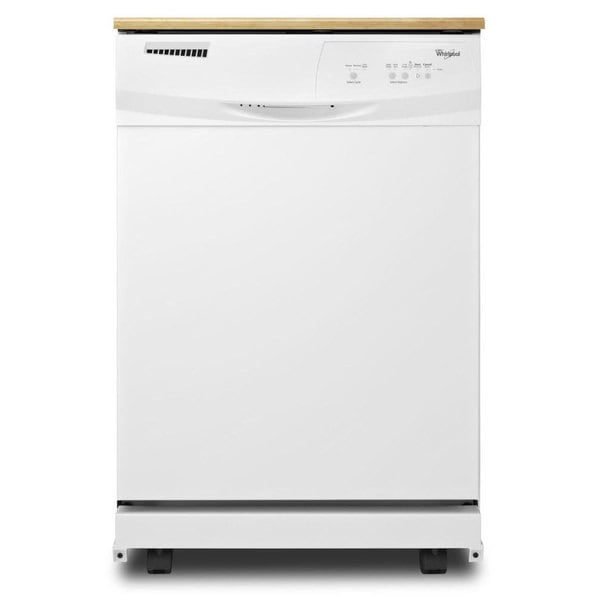Whirlpool WHIWDP350PAAW Portable Full Console Dishwasher White