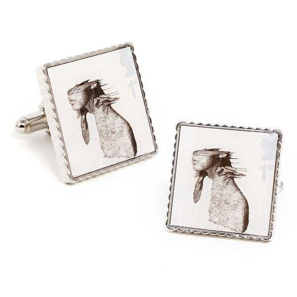 Silvertone Coldplay Classic Album Cover Stamp Cufflinks