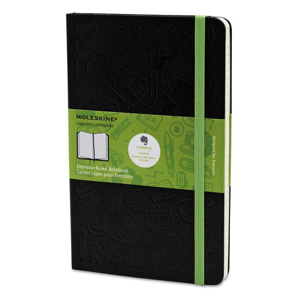 Moleskine Black Cover Ruled Evernote Smart Notebook