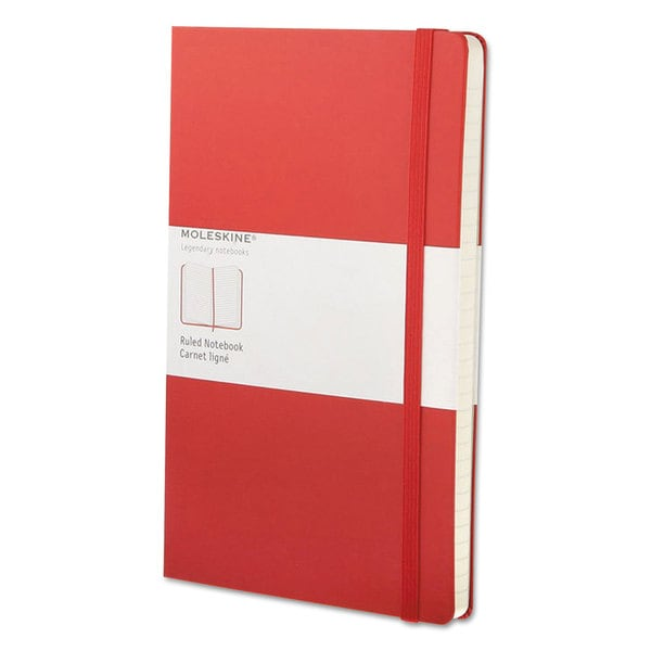 Moleskine Red Cover Ruled Classic Notebook