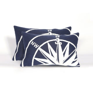 Nautical Indoor/Outdoor 12 x 20 inch Throw Pillow (set of 2)