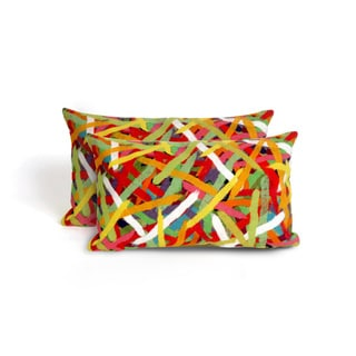 Chopsticks Indoor/Outdoor 12 x 20 inch Throw Pillow (set of 2)