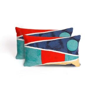 Maritime Flags Indoor/Outdoor 12 x 20 inch Throw Pillow (set of 2)