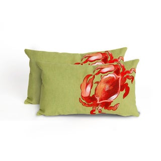 Sea Crawler Indoor/Outdoor 12 x 20 inch Throw Pillow (set of 2)