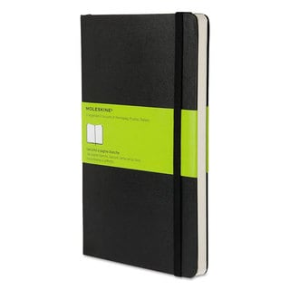 Moleskine Black Hard Cover Unruled Notebook