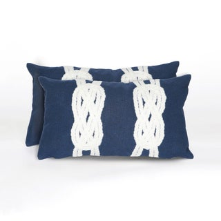 Infinity Knot Indoor/Outdoor 12 x 20 inch Throw Pillow (set of 2)