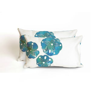 Sea Biscuit Indoor/Outdoor 12 x 20 inch Throw Pillow (set of 2)