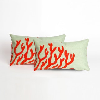 Coral Fan Indoor/Outdoor 12 x 20 inch Throw Pillow (set of 2)