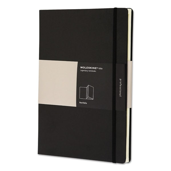 Moleskine Black Portfolio with Six Accordian Pockets