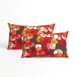 Flower Bed Indoor/Outdoor 12 x 20 inch Throw Pillow (set of 2)