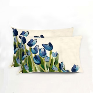 Tulip Array Indoor/Outdoor 12 x 20 inch Throw Pillow (set of 2)