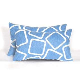 Cubes Indoor/Outdoor 12 x 20 inch Throw Pillows (set of 2)